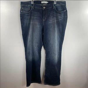 """Torrid Bootcut Dark Wash Jeans Size 24T 33"""" Inseam"""